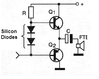 Figure 7 - Stabilization of operation with silicon diodes.