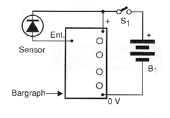 Figure 5 - Temperature meter using a common diode as sensor.