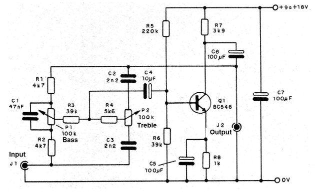 Figure 2 - Tone control diagram