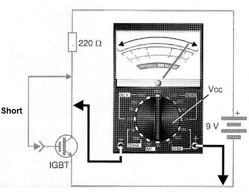 Figure 4 - The multimeter and external source in the IGBT test