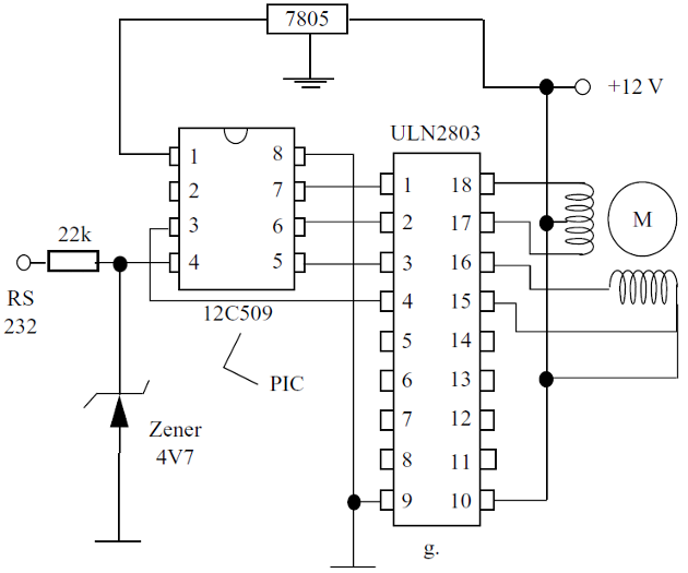 Serial Controller using the 12C509/ULN2803
