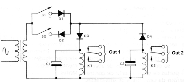 Figure 4 - A circuit with relays