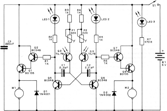Figure 2 - The electronic circuit of the robot