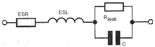 Figure 1 - Electrical model of a capacitor