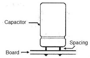 Figure 5 - Correct assemble of an electrolytic capacitor.