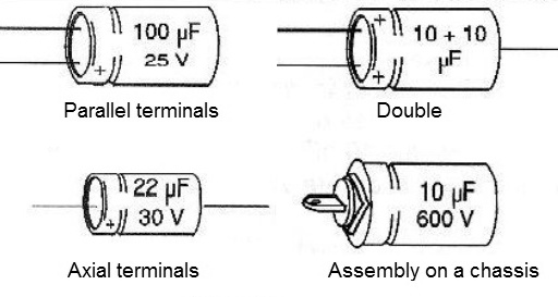 Figure 10 - Types of electrolytic <b>Capacitors</b>.