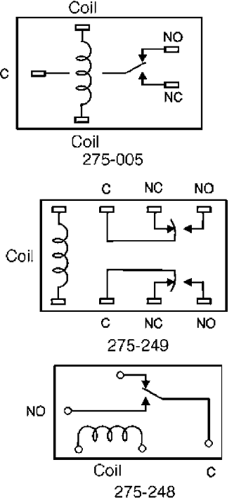 Figure 1 shows the pinout for these relays.