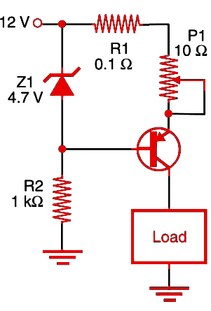 Figure 1     Constant current source using transistor.