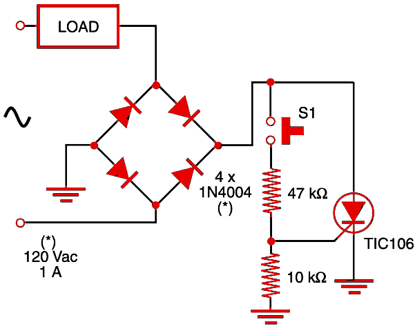 Figure 1    Full-wave ac switch II.