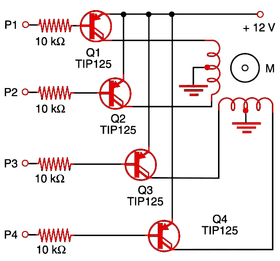 Figure 1    Shield using PNP Darlington transistors.