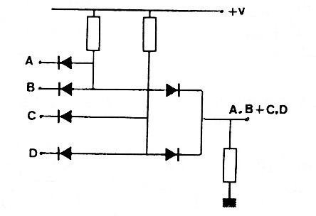 Figure 3 - AND-OR function with diodes
