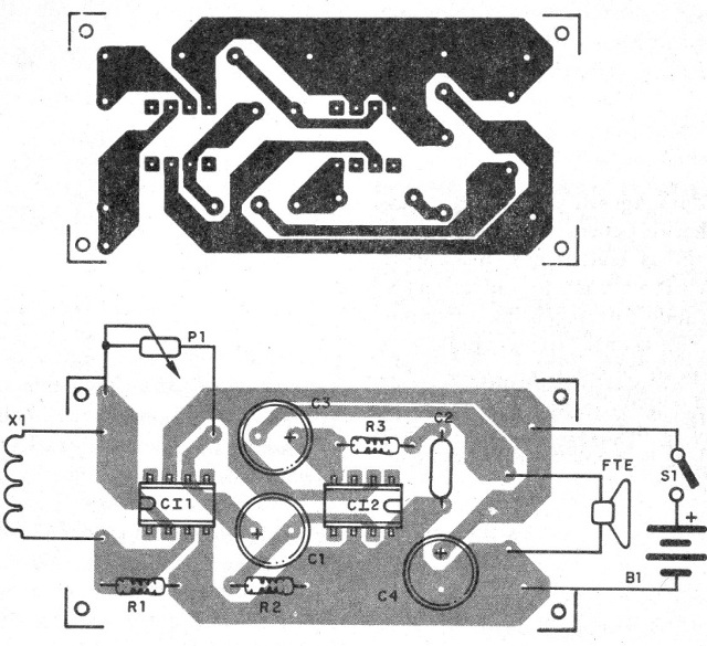 Figure 2 - Printed circuit board for the assembly