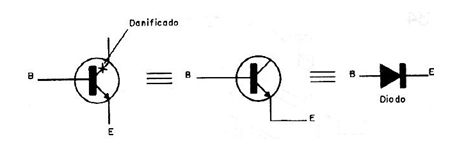 Figure 1 - The base-emitter junction of a transistor can be used as rectifier diode source or a general purpose diode.