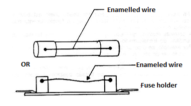 Figure 1 - Using enameled wires as fuses.