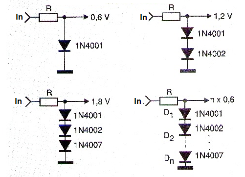 Figure 5 - Common Diodes as Zeners