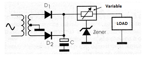 Figure 3 - Using a zener as a device controller for a higher current