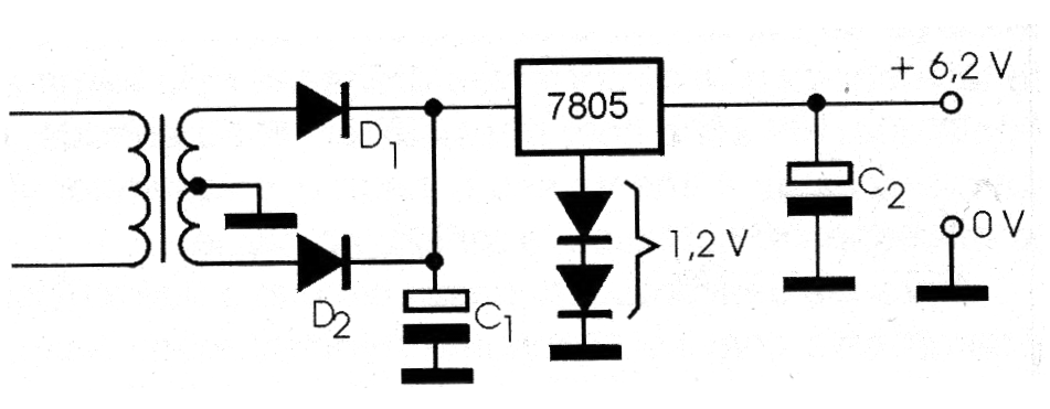 Figure 6 - Changing the output of a source with a fixed regulator