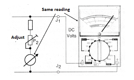Figure 3 - Calibrating the output voltage indicator