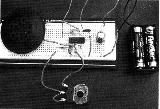 Figure 2 – The circuit mounted on a solderless board