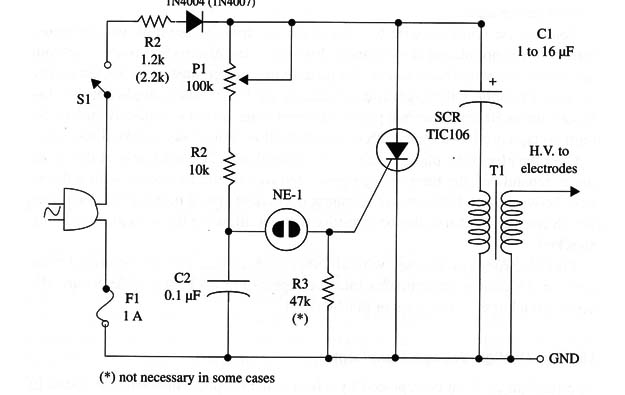 high voltage generator using scr  kirlian machine   bm035e