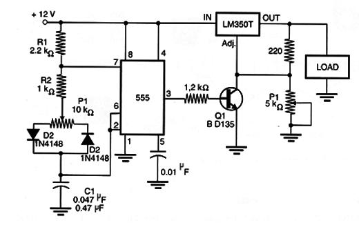 pwm control using the lm350  mec048e