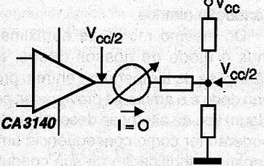 Figure 2 - In the circuit in the current balance in the instrument display is zero.