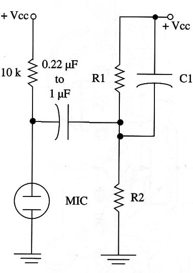 Figure 3 – Using an electret microphone