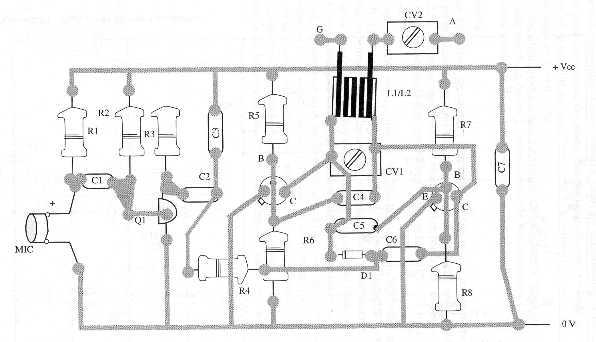 high power varicap fm transmitter  tel048e
