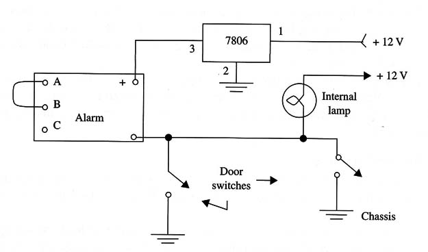 Figure 5 – Installing the circuit in a car
